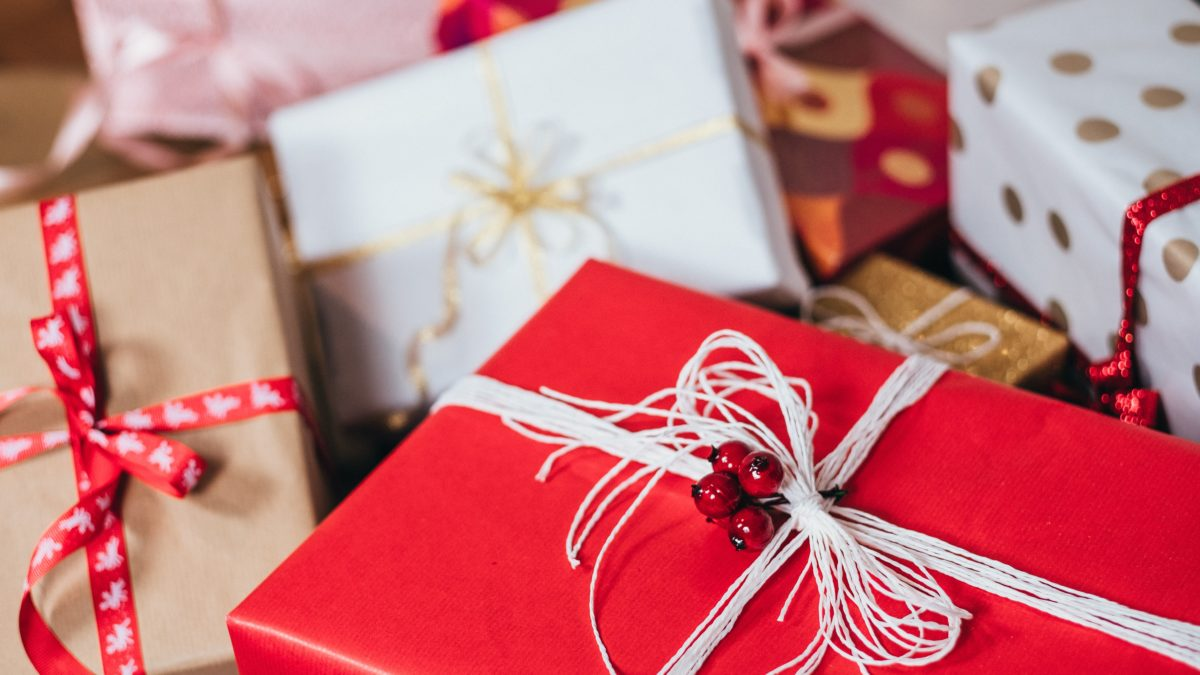 Gift parcels wrapped up