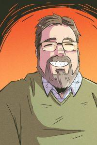 Craig Burley comic-style graphic